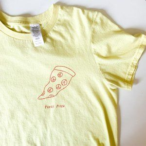 urban outfitters ashgan peace pizza tee shirt